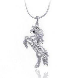 $enCountryForm.capitalKeyWord Canada - Animal Horse Pendant Necklace for Women Fashion New Austiran Crystal Jewelry Alloy Horse Pendant Necklace High Quality