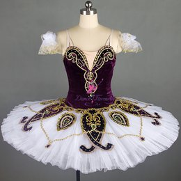 Purple Tutus For Girls NZ - Beautiful Purple Classical Ballet Dance Tutu Customize Professional Stage Performance Costume for Adult Girls Solo Dance B18302
