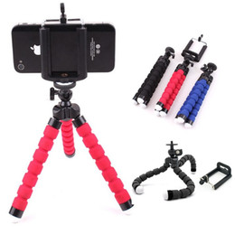 Iphone Tripod Wholesale Canada - Mini Flexible Octopus Tripod Bracket Holder Stand Leg Mount Monopod Bubble Selfie Stand Adapter for iphone 6 6s Samsung S6 Edge Camera