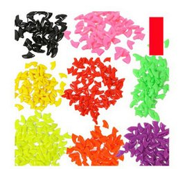 Chinese  100pcs lot 7 colors Pet cat finger dog finger grooming Pet Dog & Cat Nail Caps Claw Control Pet Cat Soft Paw S ,M,L,XL manufacturers