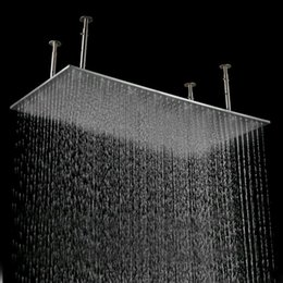 500 1000mm large stainless steel rain shower head rectangle from Large Rain  Shower Heads Suppliers Best nickbarron co 100 Cheap Head Images My Blog