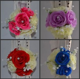 New wedding decoration background online new wedding decoration elegant artificial rose silk flowers background gauze curtain clip bouquets for wedding decor prop backdrop decoration accessories new junglespirit Gallery