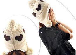 $enCountryForm.capitalKeyWord Canada - 2012 Good Christmas Gift Women Hat Love Heart Pattern Laday Caps Winter Hats For Woman Ear Muff Fashion Lady's Headwear 5 Colors
