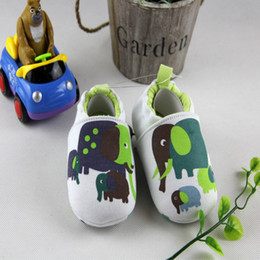 Barato Sapatilhas Para Animais De Criança-New Arrive Lovely Elephant Baby Boys Girls Shoes First Walkers Toddler Cotton Shoes Baby Sneakers KS81205-125