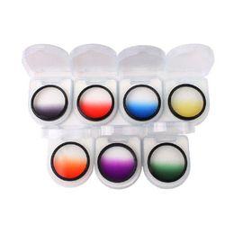 Lens Filter 52mm Canada - New Optical Netural Grad Gradual ND-Grads Filter For Camera Lens 52mm 7 Colors #54799 filter hepa