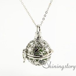 design lockets stone pendants a perfume aromatherapy diffuser wholesale metal jewelry openwork butterfly essential volcanic oil necklace