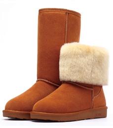 bde197e4d Botas clásicas de invierno para mujer botines de tacón plano de mujer de  piel gruesa y cálida botas de nieve para mujer tamaño 35-40