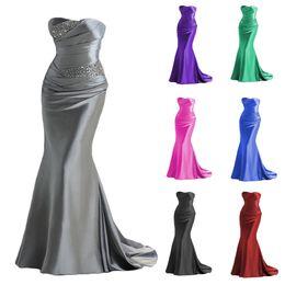 $enCountryForm.capitalKeyWord Australia - 2015 elegant mermaid evening dresses long cheap mermaid strapless satin sequin formal gown for women sexy prom dress in stock