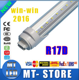 Frost Fluorescent Light Canada - R17D t8 led tube light 8ft 45W 2.4m Fluorescent Lamp Rotating smd2835 192leds 4800lm 85-265V Frosted Clear Cover tubes
