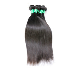 Full Head Brazilian Human Hair UK - 6A Brazilian Virgin Hair Straight Weft Hair Weave Extensions Full Head Natural Color Dyeable Bleachable Unprocessed 100% Human Remy Hair 1pc