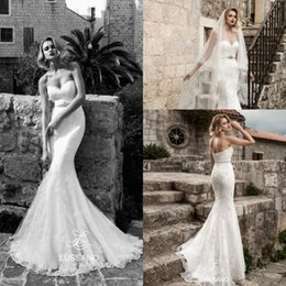 Barato Longo Casamento Espartilho-Lussano mais novo 2018 Lace Mermaid Wedding Dresses Elegante Sweetheart sem mangas Appliqued Long Corset Backless com Sash Bridal Gowns