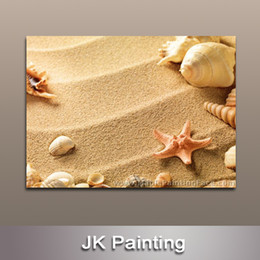$enCountryForm.capitalKeyWord Canada - Canvas Printing Painting of Beach Sand and Shell for Modern Decoration for Wall Modern Painting China -- Digital Canvas Prints