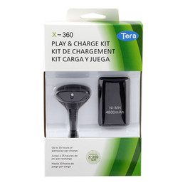 $enCountryForm.capitalKeyWord Australia - Replacement Battery Pack Play Charge Cable Kit for XBOX 360 Wireless Controller Gamepad USB Charger Charging Dock Data Batteries