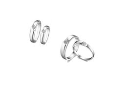 d826dae81 New arrive 1PCS Fashion Women Men Platinum Plate Zircon Couple Band Love  Ring at various sizes #91935