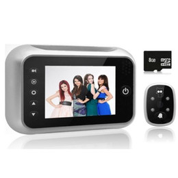 "digital peephole viewers NZ - 3.5"" LCD Screen IR Night Vision Digital Doorbell Video Camera Peephole Viewer 8GB"