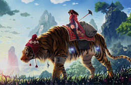 $enCountryForm.capitalKeyWord Australia - Hand-painted tiger childrens room 3D backdrop wall murals animals