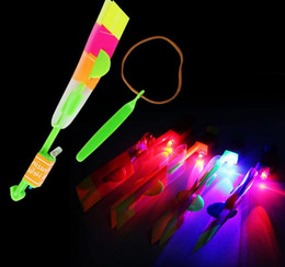 Slingshot Helicopter Toy Australia - Newest Children Toys Amazing LED Flying Arrow Helicopter for Sports Funny Slingshot birthday party supplies Kids' Gift