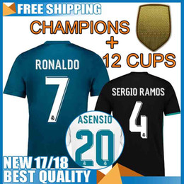a28acd670 Cheap Thai quality 2018 Real madrid soccer Jerseys champions league 17 18  RONALDO BALE SERGIO RAMOS ISCO MODRIC jersey ASENSIO camisetas ...
