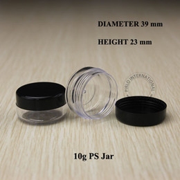 Empty small bottlEs for cosmEtics online shopping - 10g Empty small plastic jars bottles cosmetic jar pot box with lids sample mini containers packaging for nail art powder