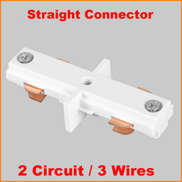 $enCountryForm.capitalKeyWord Canada - 3 Wire 2 Circuit phase LED Lighting Track connector for joining rails track components middle feed aluminum track accessories Black White