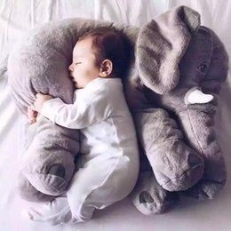 Girl Games Babies Australia - Biggest 60Cm Infant Soft Appease Elephant Playmate Calm Doll Baby Toys Elephant Pillow Plush Toys Stuffed Doll Girl Friend Gift