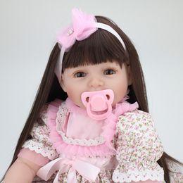 $enCountryForm.capitalKeyWord Australia - Stylish 22 Inch Real Lifelike Reborn Babies Cloth Body Newborn Princess Girl Dolls Children Birthday Xmas Gift