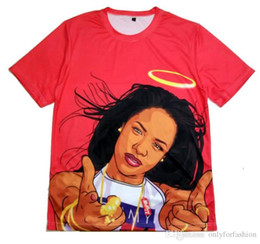 Chinese  Real USA SIZE Plus Size 6XL Aaliyah Babygirl 3D Sublimation print T-shirt custom-made clothing manufacturers