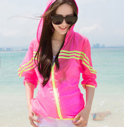 Discount thin sun protection jackets - Wholesale-2015 Summer new UV Resistance skin coat Sun protection clothing anti-uv Jackets thin Outerwear Beach Causal wo