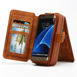 $enCountryForm.capitalKeyWord UK - Multifunction Wallet Phone Case For Samsung S4  5  6  7  S7  S8 Edge  Note 4  5  8 For Iphone 5 Se 6s Plus 7 8 Plus X Zipper Purse Pouch