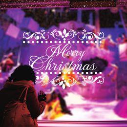 $enCountryForm.capitalKeyWord Canada - hot sale Christmas window decoration stickers merry christmas happy new year home decoration reindeer Xmas wall decals