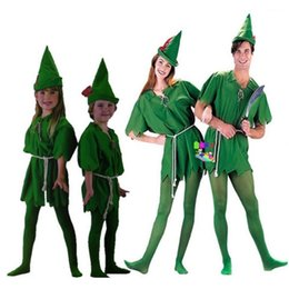 Peter Pan Cosplay Pas Cher-<b>Peter Pan Cosplay</b> Costumes Pour Adultes Hommes Femmes Halloween Carvinal Cosplay Costumes Pour Enfants Enfants Cosplay Costumes