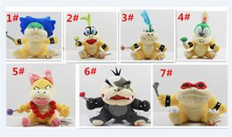 "lemmy koopa toys 2019 - 100pcsCartoon Super Mario plush toys Wendy Larry Lemmy Ludwing O. Koopa Plush Sanei 8"" Stuffed Figure Super Mario G"