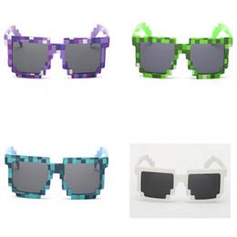 Chinese  Fashion Children Sunglasses Mosaic JJ Creeper Glasses Pixels Retro Square Sunglass Knickknack Gift For Kids Boys Girls Top Quality MT247 manufacturers