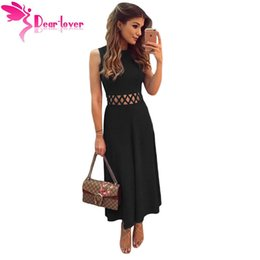 Cheap black fit and flare dress