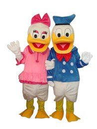Costumes De Costumes De Couple Pas Cher-Les points de vente d'usine arrivent le costume de mascotte animal de bande dessinée de costume d'Halloween de couple de canard de Donald l'expédition libre