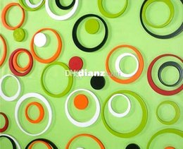 Fashion Hot 1 Set color Indoors bathroom home Decoration Circles Creative Stereo Removable 3D DIY Wall Stickers on Sale