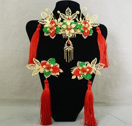 Wholesale Chinese classical color comb the ancient style of the bride wedding headdress ornaments accessories