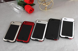 Iphone Metal Case Silver Canada - Metal Water Dirt Shock Proof Anti Mobile Phone Protective Shell For iPhone 6 Plus 6s Plus Case Support Fingerprint