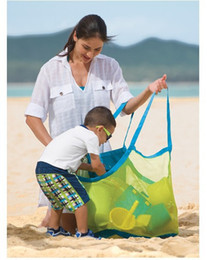Low price cLothing online shopping - extra large sand away beach mesh bag Children Beach Toys Clothes Towel Bags baby toy collection bag Lowest price
