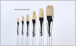 Professional Painting Brushes NZ - Wholesale-6pcs lot Professional Natural Bristles Hair Paint Brush Manufacturer sakura pigma micron paint brush pen free shipping
