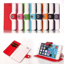 Iphone Plus Wallet Case For Girls Canada - For iPhone 6 6S Plus Flip Stand Wallet Leather Case With card slot Phone Cover For birthday gift for girls with factory price