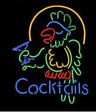 Parrot disPlay online shopping - Cocktails Parrot Neon Sign Commercial Custom Handmade Real Glass Tube Drink Store Shop Pub KTV Bar Advertising Display Neon Signs quot X19 quot