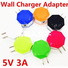 Wall Dual Ac Charger Canada - Universal Portable Polygon Windmill Dual USB Wall Charger 5V 3A AC Power Adapter for iphone 6S Samsung S6 Edge S7 HTC ipod LG