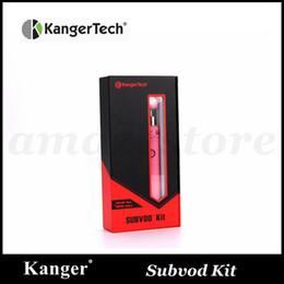 authentic kangertech subvod starter kit 2019 - Authentic Kangertech SUBVOD Starter Kit with Kanger 1300mAh SUBVOD Battery 3.2ml SSOCC Toptank Nano Atomizer Gif Box 5pc