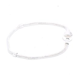 23cm Silver Bracelets Australia - 100pcs (16cm~23cm) Fashion 925 Silver Snake Chains Link Bracelet Fits Charms European Beads Bracelets & Bangles Accessories Jewelry