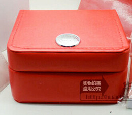 Wholesale FREE SHIPPING 2018 Luxury WATCH BOX New Square Red box For Watches Booklet Card Tags And Papers In English on Sale