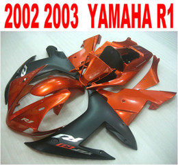 yamaha r1 plastics kits NZ - Lowest price fairing kit for YAMAHA Injection mold YZF-R1 2002 2003 brown matte black plastic fairings set yzf r1 02 03 HS39
