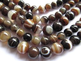 $enCountryForm.capitalKeyWord NZ - wholesale 2strands 2 3 4 6 8 10 12 14 16mm natural Botswana Agate gemstone Round Ball grey brown black loose bead
