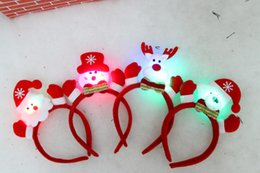 $enCountryForm.capitalKeyWord NZ - 2015 new LED light Christmas ear headband and bear Christmas elderly snowman deer 3stlys Children hair accessories C010