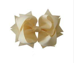 $enCountryForm.capitalKeyWord NZ - 2015 new 6inch Large Solid grosgrain ribbon Layer spike Hair Bow clip 30pcs Children's Hair Accessories
